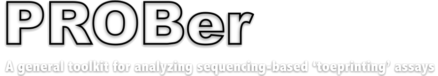 PROBer – A general toolkit for analyzing sequencing-based 'toeprinting' assays